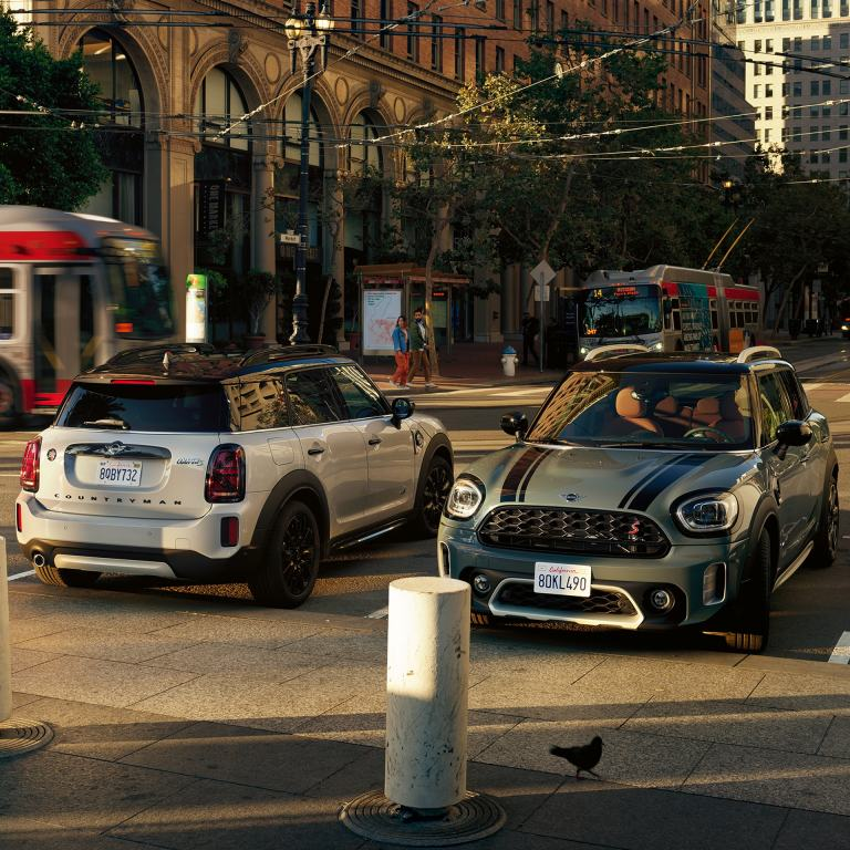 Nouvelle MINI COUNTRYMAN – MINI COOPER SE COUNTRYMAN ALL4 – vue de face